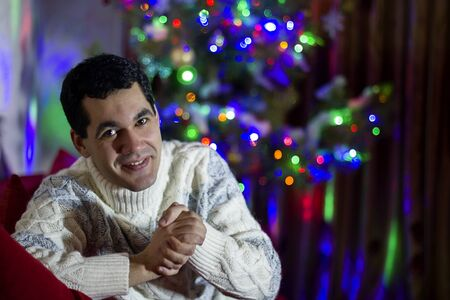 Christmas portrait of a man