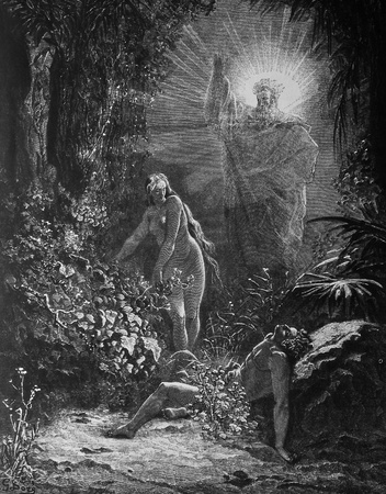 Creation of Eve  1  Le Sainte Bible  Traduction nouvelle selon la Vulgate par Mm  J -J  Bourasse et P  Janvier  Tours  Alfred Mame et Fils  2  1866 3  France 4  Gustave Doré
