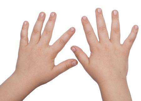 Photo pour child hands isolated on white - image libre de droit
