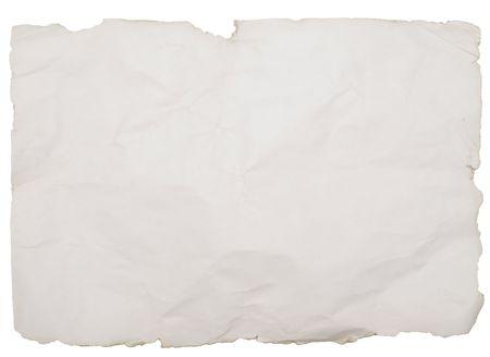 Foto de old paper with rough edges isolated on white - Imagen libre de derechos