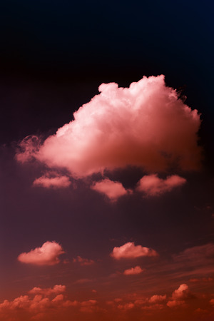 Big clouds in the skies.