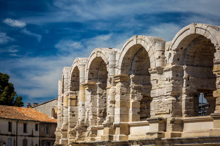 Arena and Roman Amphitheater, Arles, Provence, France