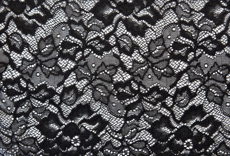 Photo pour Background from black lace with pattern with form flower on white - image libre de droit