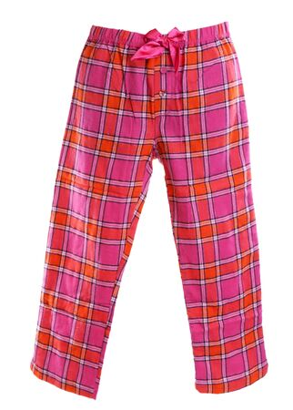 plaid pajama pants on a white background