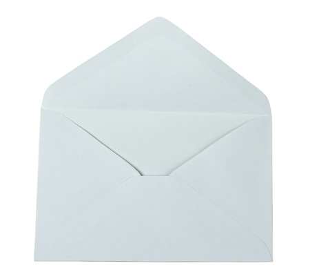 open empty envelope isolated on a white background