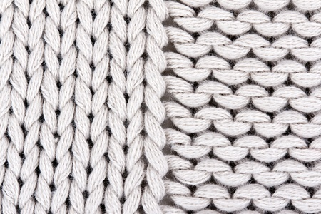 knitted gray background closeup