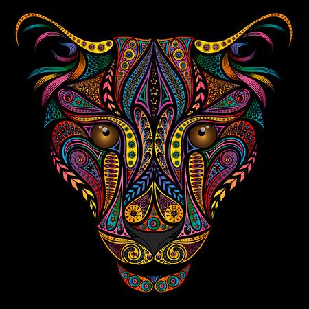 Ilustración de Color leopard from beautiful various patterns - Imagen libre de derechos