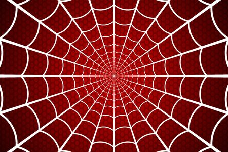 Illustration pour Spider web. Cobweb on Red background. Vector illustration - image libre de droit