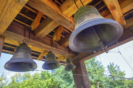 Photo for old church bells ringing out - Royalty Free Image