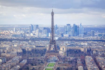 Photo pour panorama of French capital city - image libre de droit