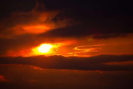 Photo pour Dramatic Sky with Sunbeam . Spectacular Twilight Heaven - image libre de droit