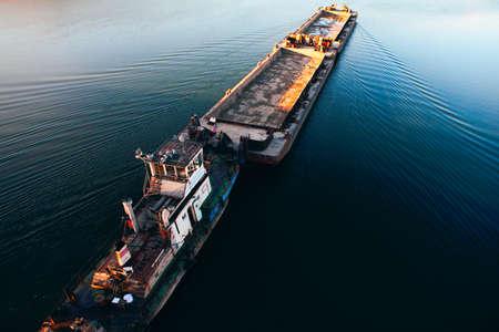 Photo for Freight shipping . Sailing cargo platform - Royalty Free Image