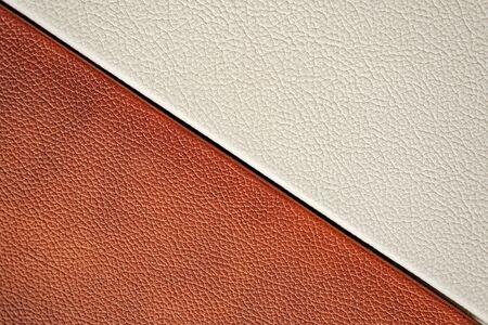 Photo pour White and brown leather texture. close-up. design. - image libre de droit
