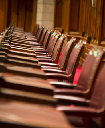 The seats of the canadian senate chamber