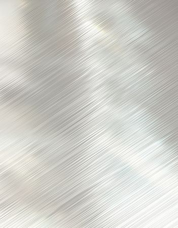 highly polished and reflective stainless steel background