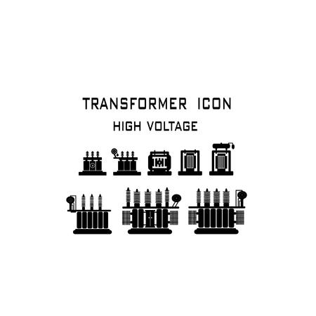Illustration pour High Voltage Transformer on a white background. - image libre de droit