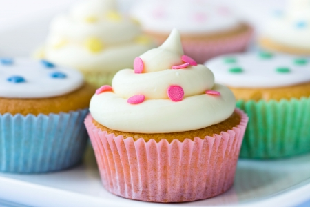 Selection of colorful cupcakes