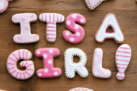 Foto de Baby shower cookies - Imagen libre de derechos