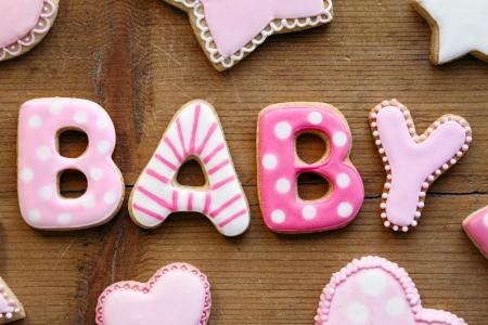 Photo pour Baby shower cookies - image libre de droit