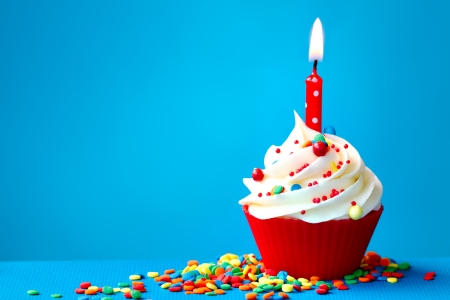 Photo for Birthday cupcake - Royalty Free Image