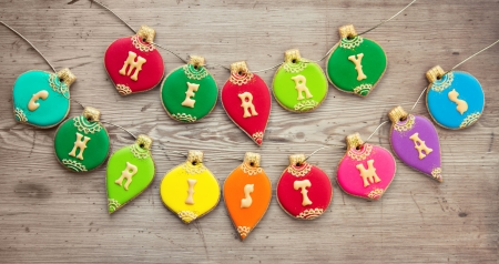 Cookies with a Christmas greeting
