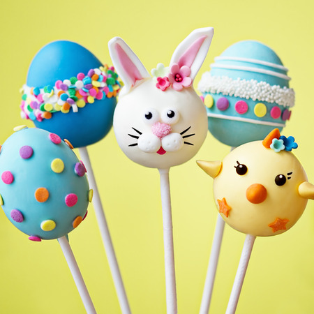 Photo for Cake pops with an Easter theme - Royalty Free Image
