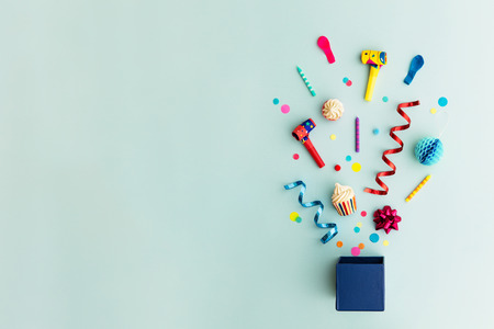 Photo for Objects for a birthday party - Royalty Free Image