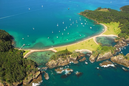 Roberton Island - Bay of Islands New Zealand - Aerial