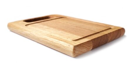 Photo for wooden cutting board isolated on white background - Royalty Free Image