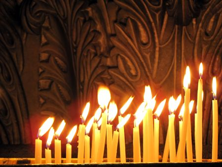 Candles in the Church of the Holy Sepulchre, Jerusalem