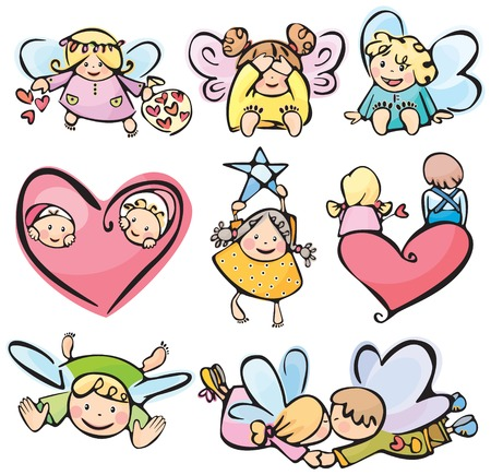 Cute angels for your design.