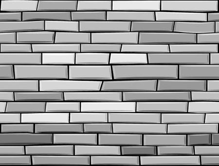 Illustration for seamless brick wall made of grey bricks. - Royalty Free Image