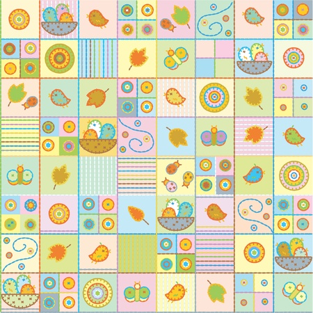 Seamless cute pattern.