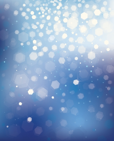 Vector blue background with lights and stars