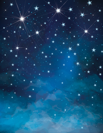 Vector night starry sky background