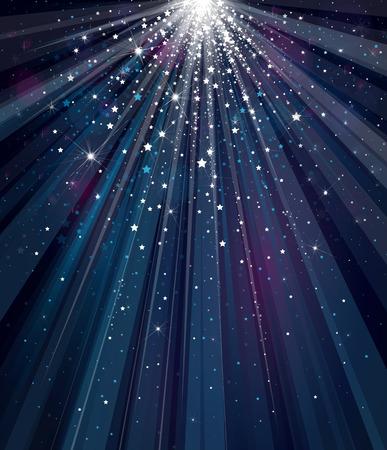 Illustration pour sky background with lights and stars. - image libre de droit