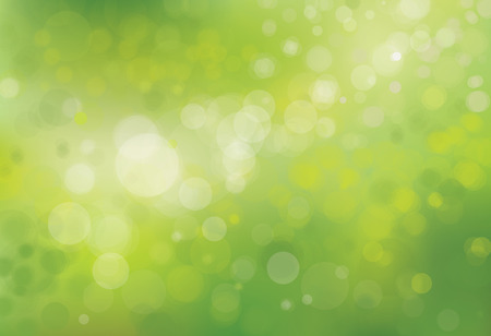 Illustration pour Vector green bokeh background. - image libre de droit