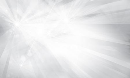 Vector silver background with rays and lights.