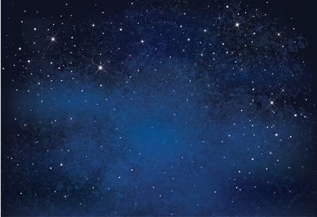 Ilustración de Night starry sky background - Imagen libre de derechos