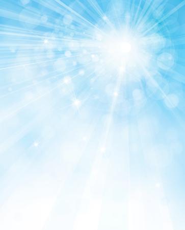 Ilustración de Vector sunshine blue sky background. - Imagen libre de derechos