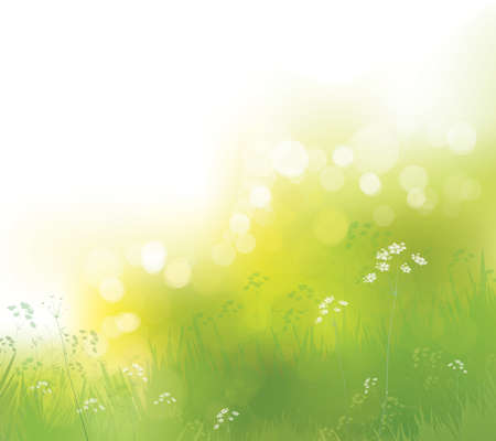 Illustration for Vector green, bokeh, nature background. - Royalty Free Image