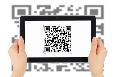 Scanning of QR code by tablet pc