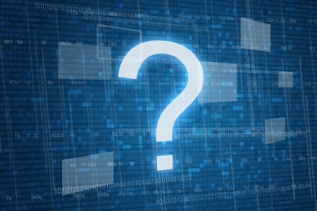 Photo pour Question mark on digital   - image libre de droit