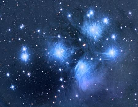 Pleiades open star cluster
