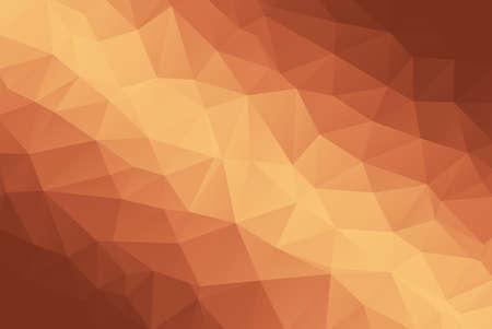 Illustration pour Bronze Abstract Low Poly Gradient Polygonal Background Vector Illustration - image libre de droit