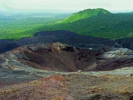 Crater of the volcano Cerro Negro, near Leon, Nicaragua