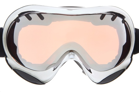 Beautiful sliver ski goggles