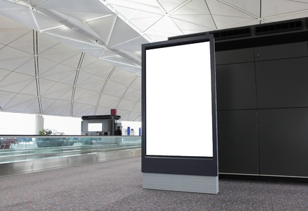 Blank Billboard in airport at hong kong