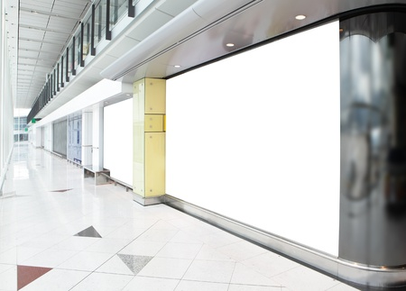 blank billboard in shopping mall, empty copy space in the image is great for designer