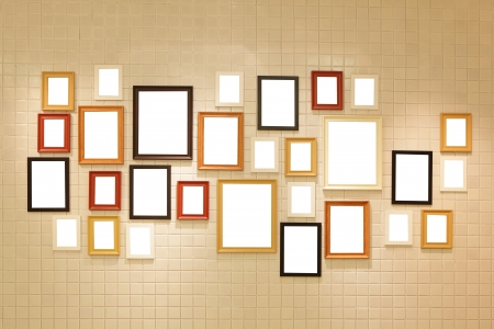 Photo pour Picture frame , Photo art gallery on the wall. copy space great for your design - image libre de droit
